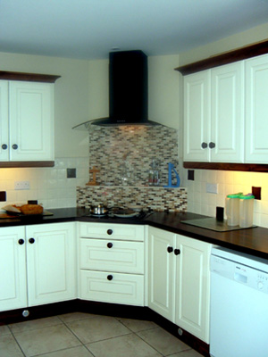 Cream Walnut Fitted Kitchen