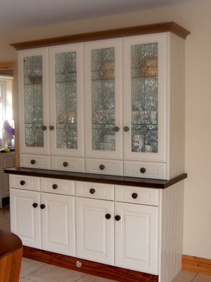 Cream and Walnut Kitchen Dresser