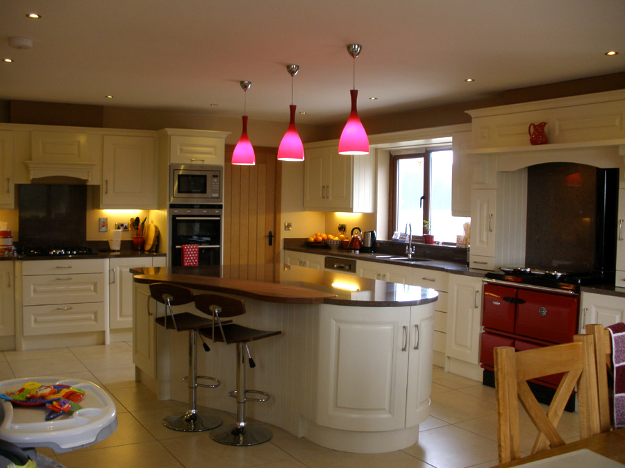 Solid Cream Fitted Kitchen Image 1