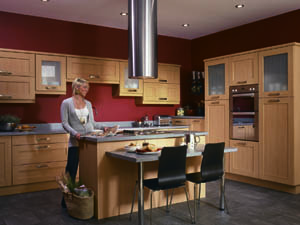 Tuscany Beech Fitted Kitchen