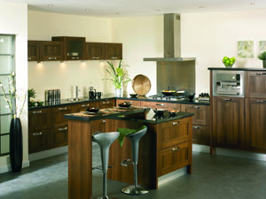 Tuscany Dark Walnut Fitted Kitchen - Image 1