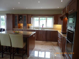 Beautiful Solid Medium Walnut Fitted Kitchen - Image 2