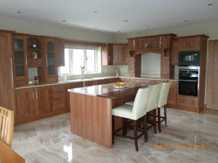 Beautiful Medium Walnut Fitted Kitchen - Image 3